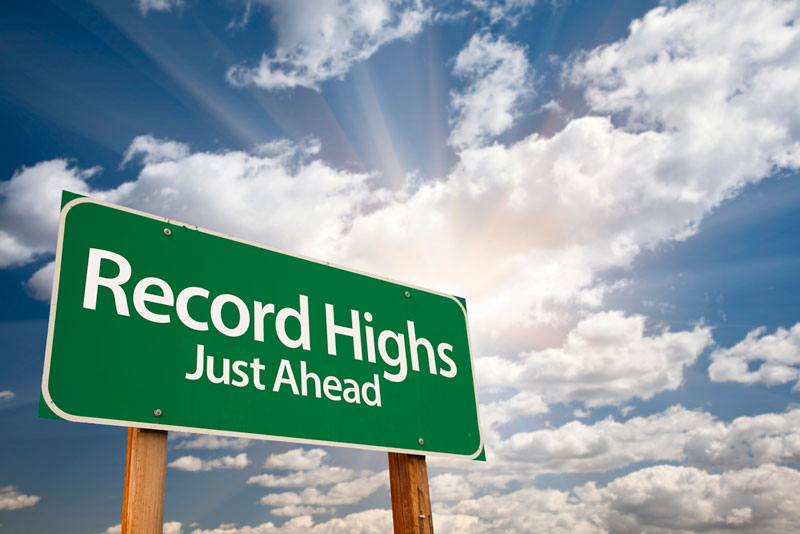 Confidence hitting record highs